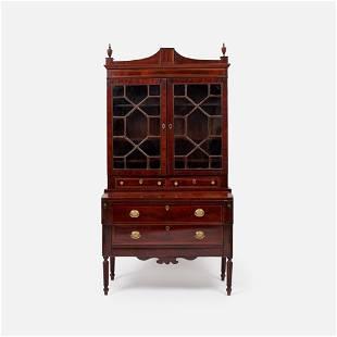 Georgian Period Mahogany Secretary Bookcase