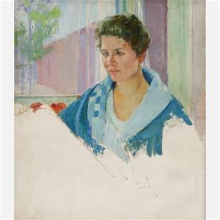 """Agnes Millen Richmond """"Self-Portrait"""" Oil on Canvas"""