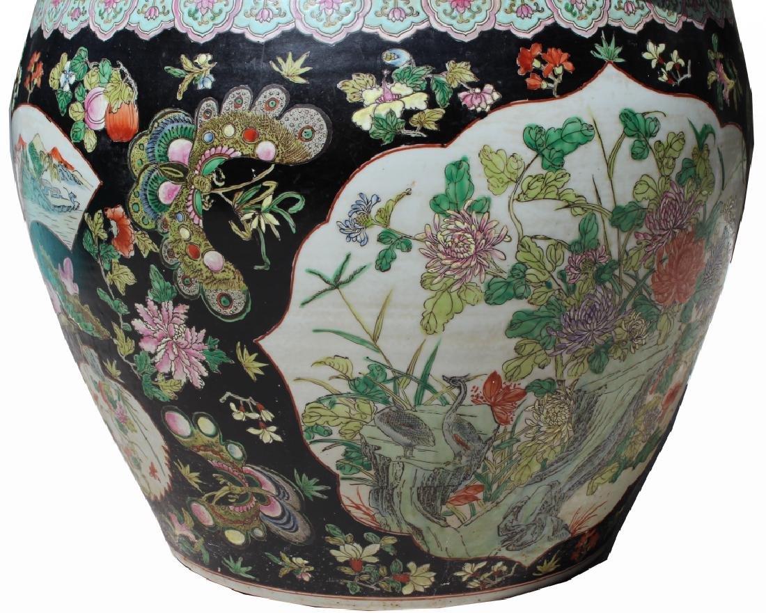 Chinese Famille Noir Fish Jardiniere, Ex Christies - 5