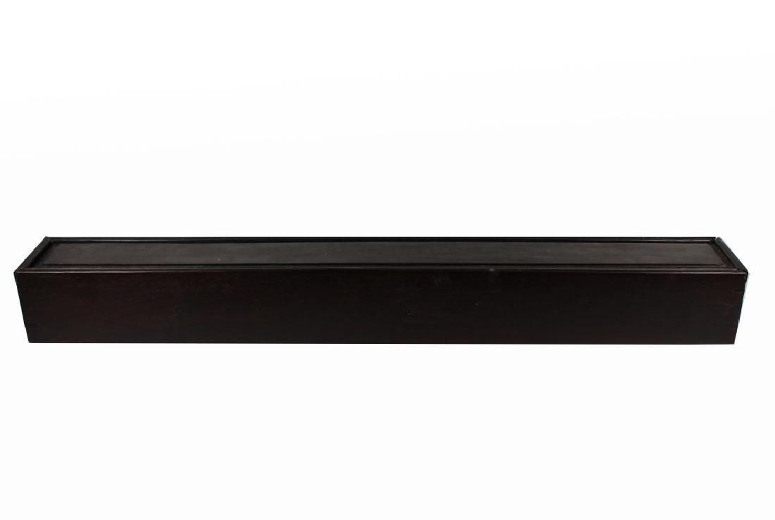 Chinese Zitan Wood Scroll Box