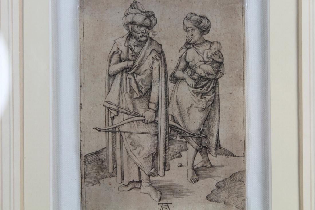 "Albrecht Durer (1471 - 1528) ""Turkish Family"" - 3"