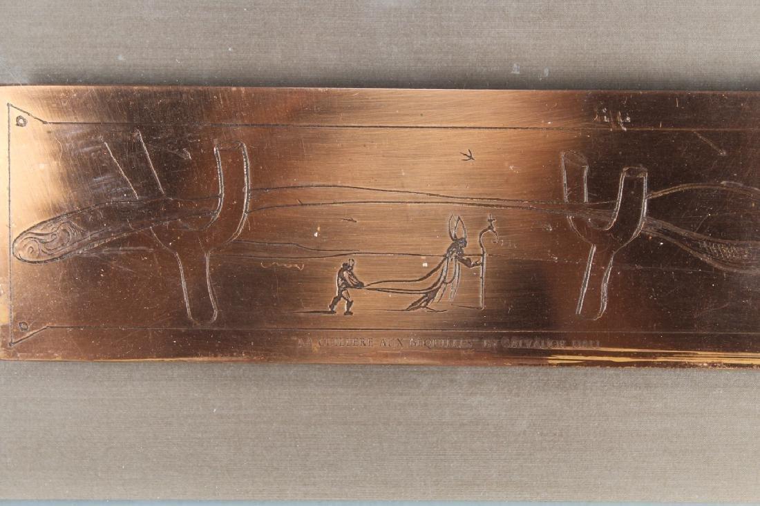 Salvador Dali, AP 32/50 Framed Copper Plaque - 2