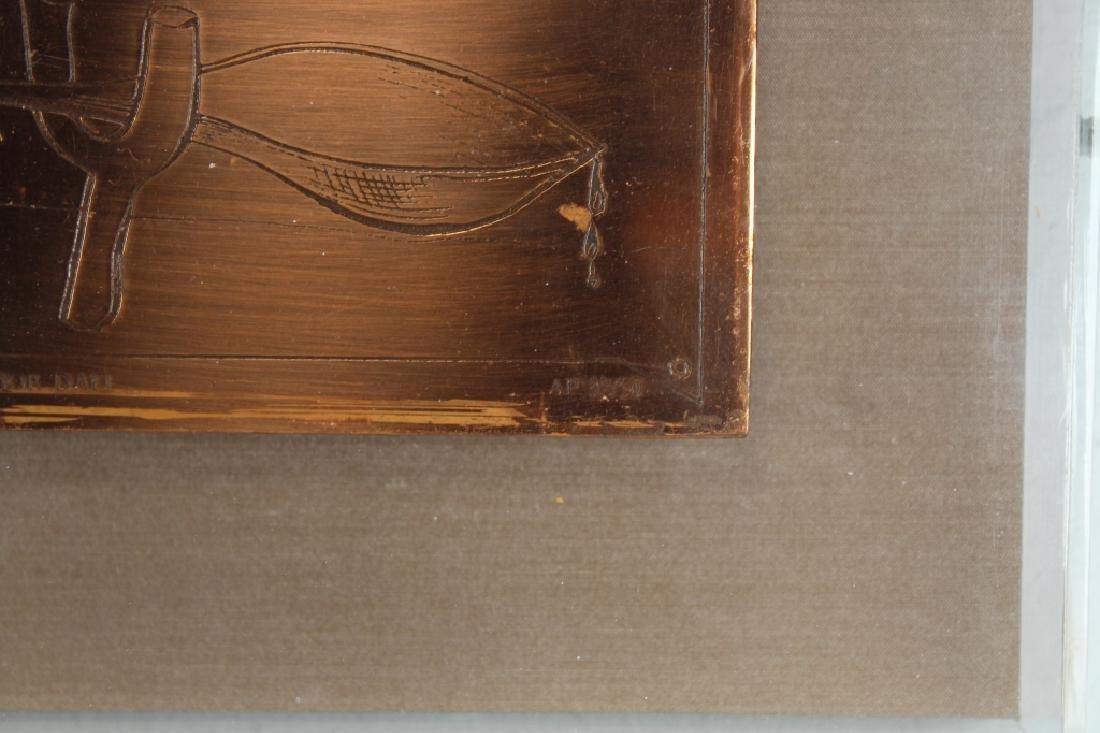 Salvador Dali, AP 32/50 Framed Copper Plaque - 3