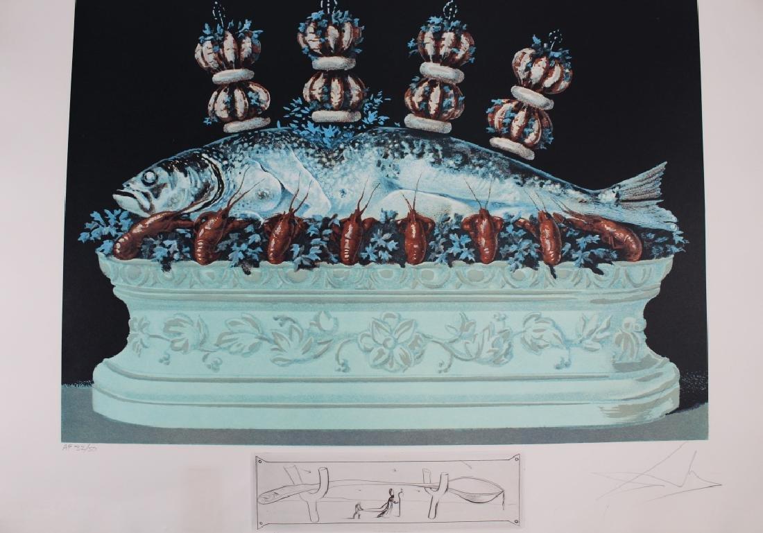 """Rare Salvador Dali Portfolio, """"Les Diners de Gala"""" - 8"""