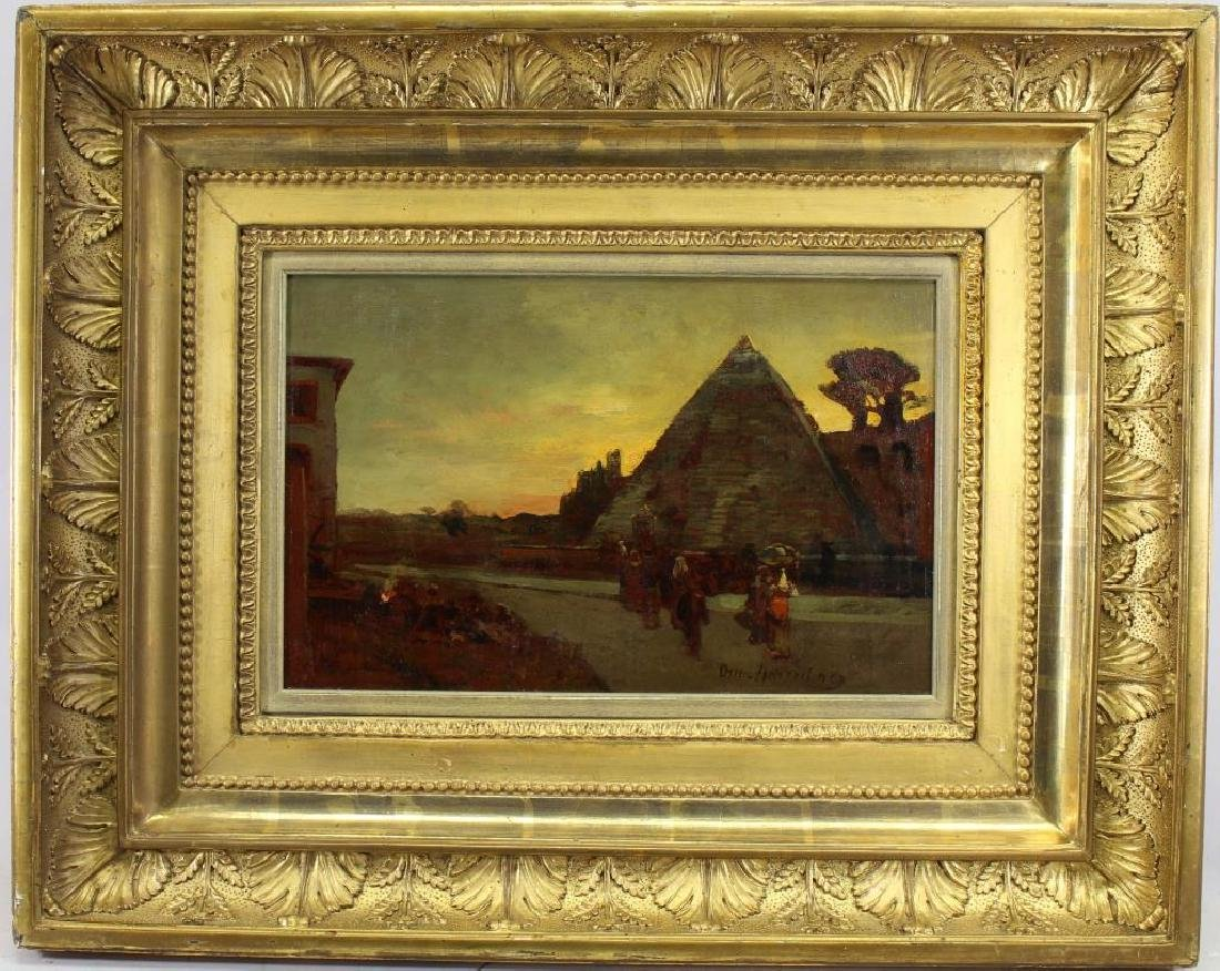 "Oswald Achenbach (1827 - 1905) ""Pyramids"""