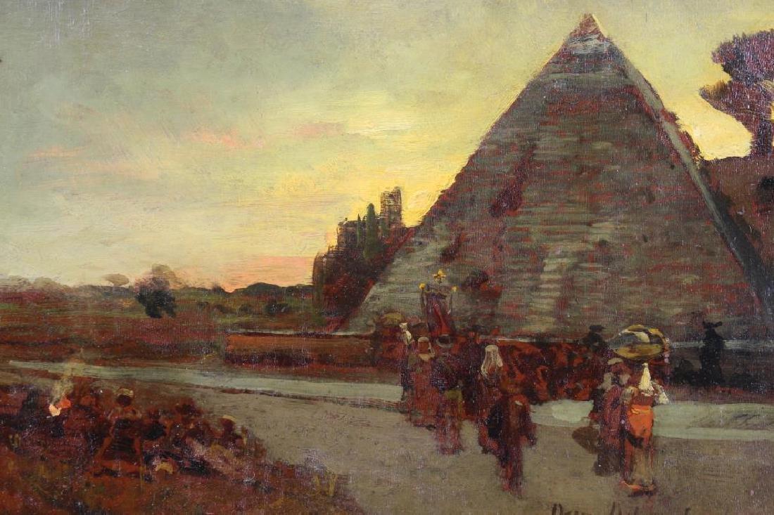 "Oswald Achenbach (1827 - 1905) ""Pyramids"" - 2"