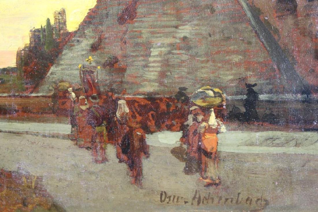 "Oswald Achenbach (1827 - 1905) ""Pyramids"" - 3"
