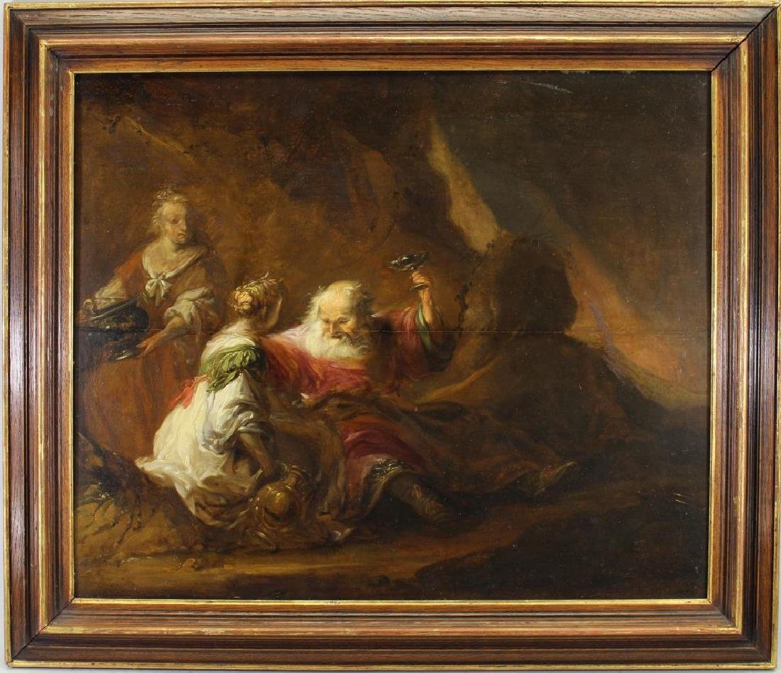 Matthias Scheits (1640 - 1700) Lot & His Daughters