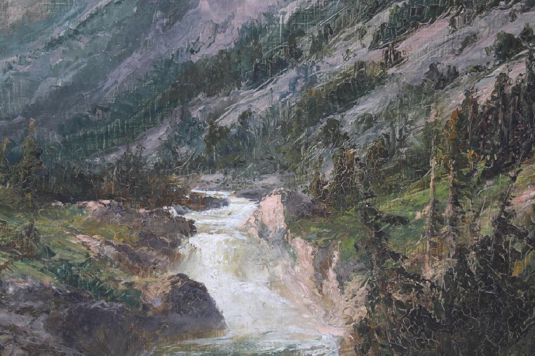 Large American Monogrammed Western Landscape - 2