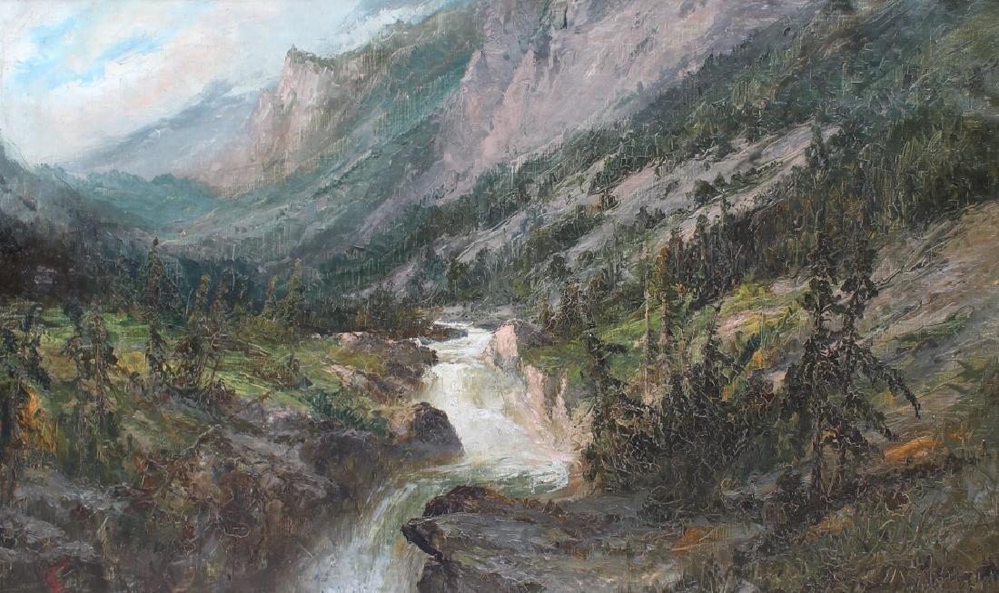 Large American Monogrammed Western Landscape - 5
