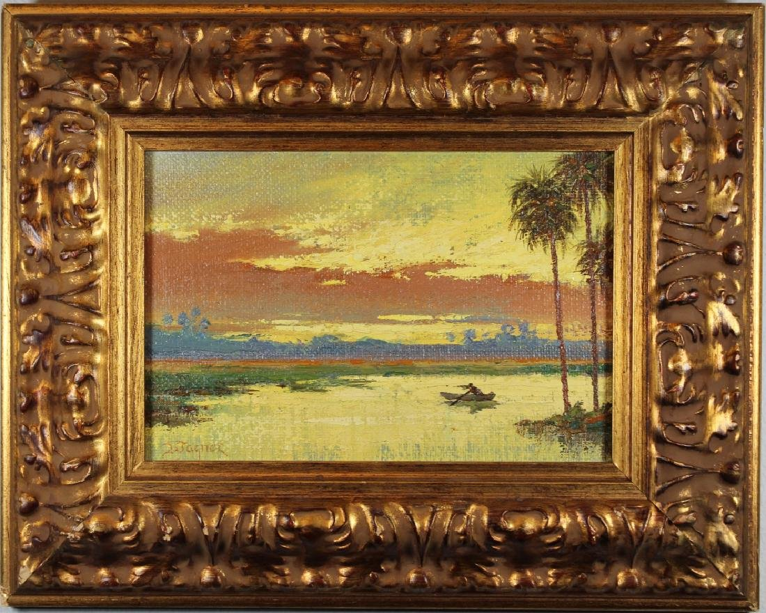 Wagner, Signed American School Landscape at Sunset