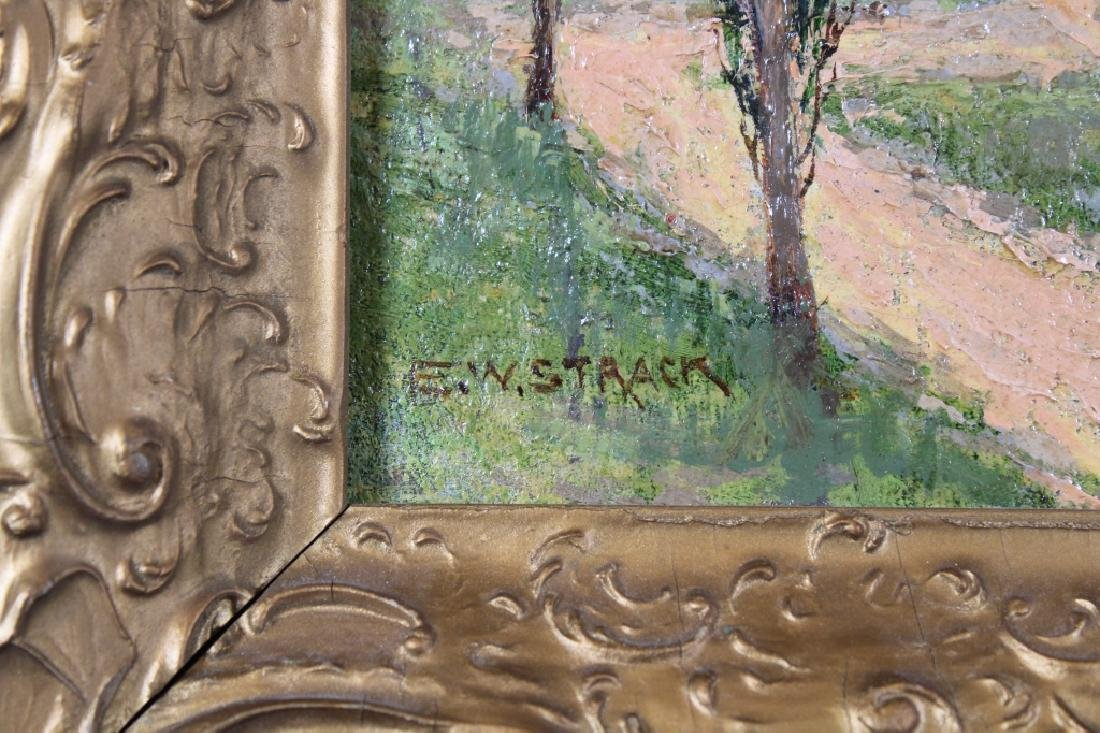 E.W. Strack, Signed Painting of Wooded Pathway - 3