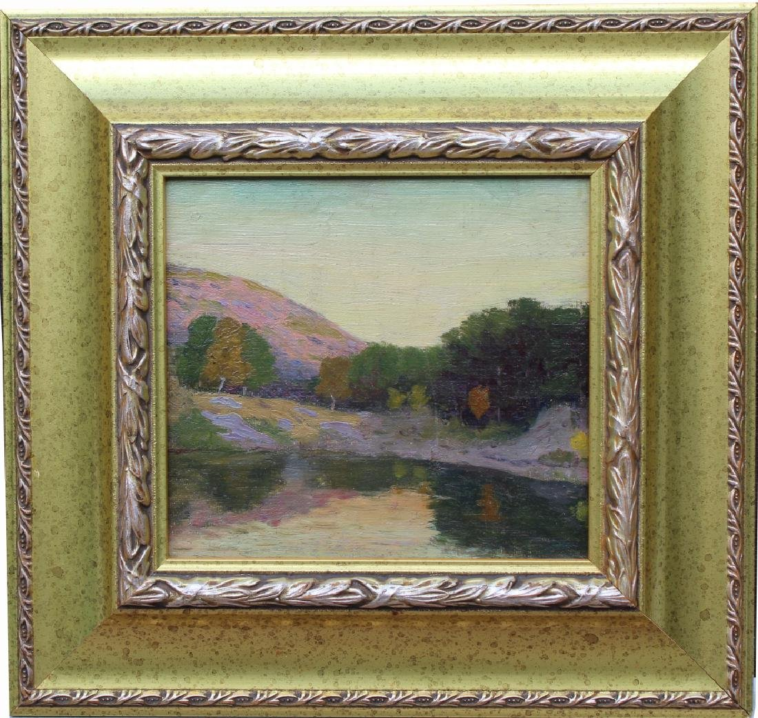 American School Autumnal River Landscape