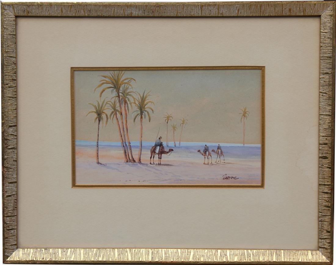 Antique Orientalist Pastel, Signed