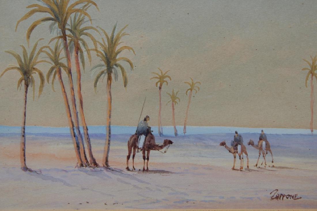 Antique Orientalist Pastel, Signed - 2