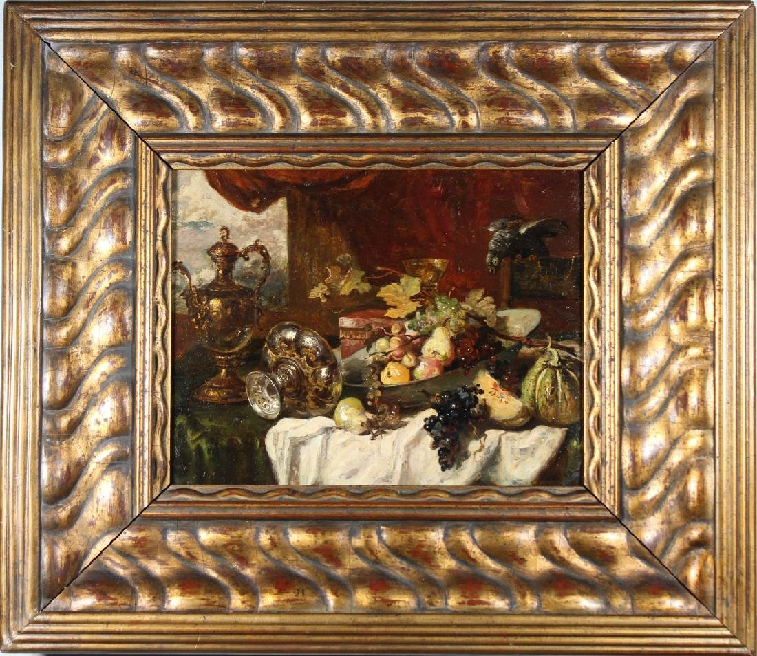 Early 19th C. Still Life Painting of Grapes, Signd