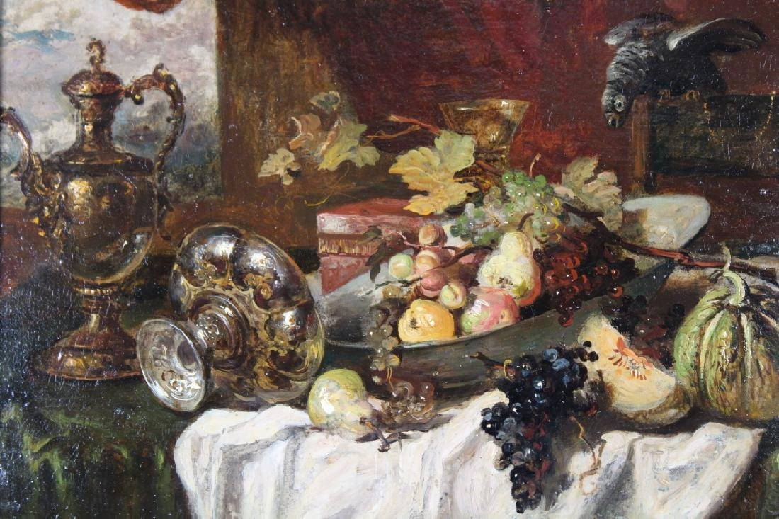 Early 19th C. Still Life Painting of Grapes, Signd - 2