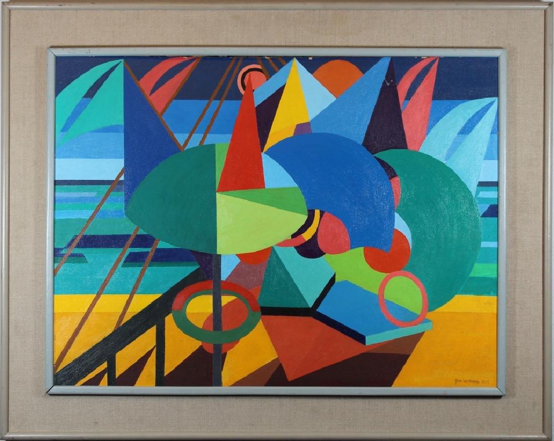 "Ena Whitcomb, ""Mediterranean Beach"" 1973"