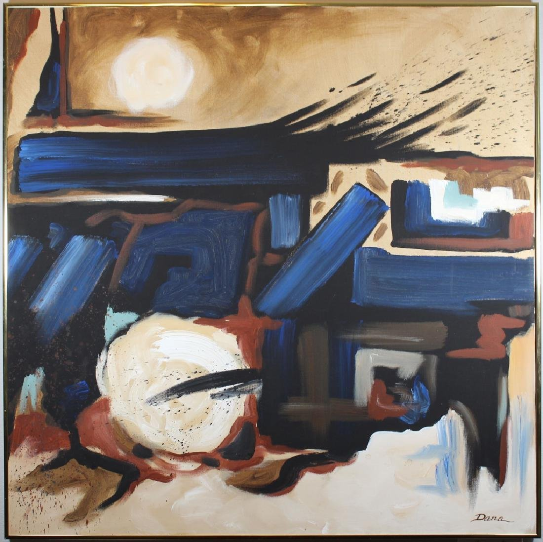 Dana Burford, Large Vintage Abstract Painting