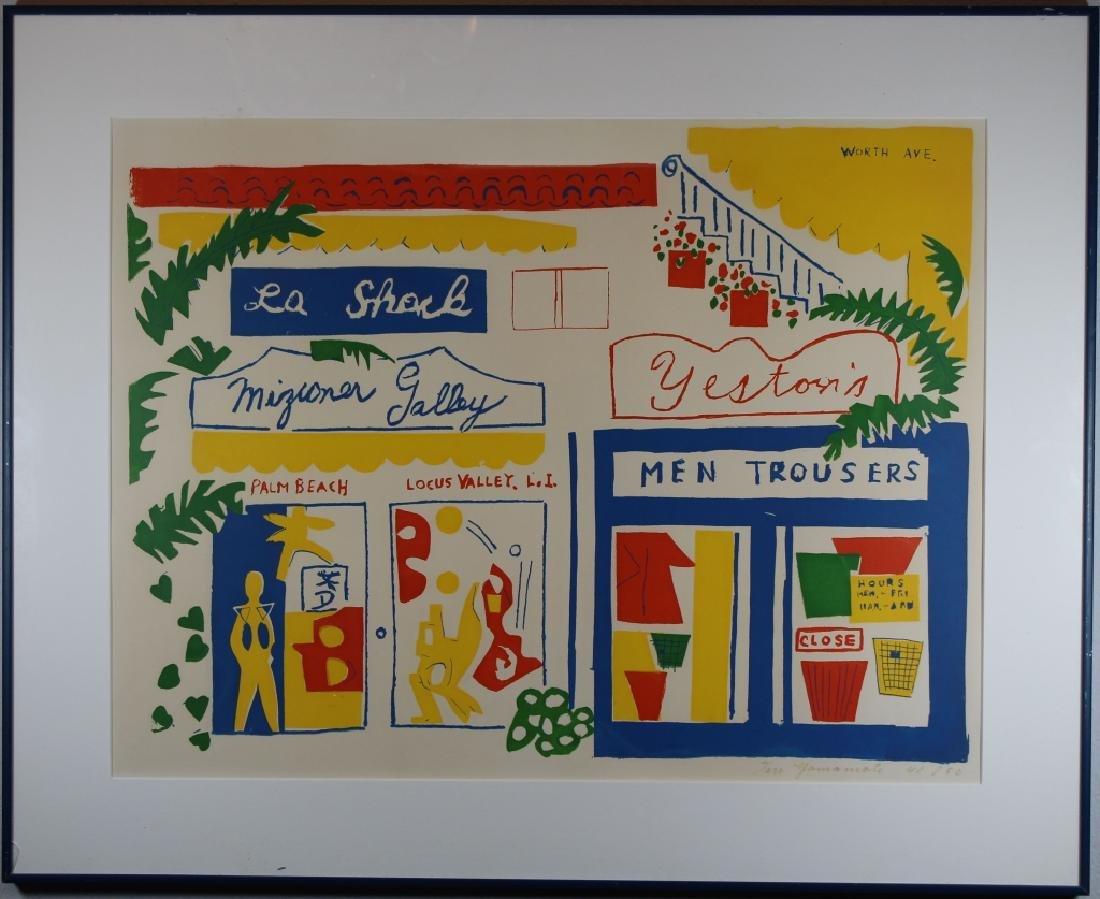 Taro Yamamoto (1919-1994) Lithograph, Palm Beach