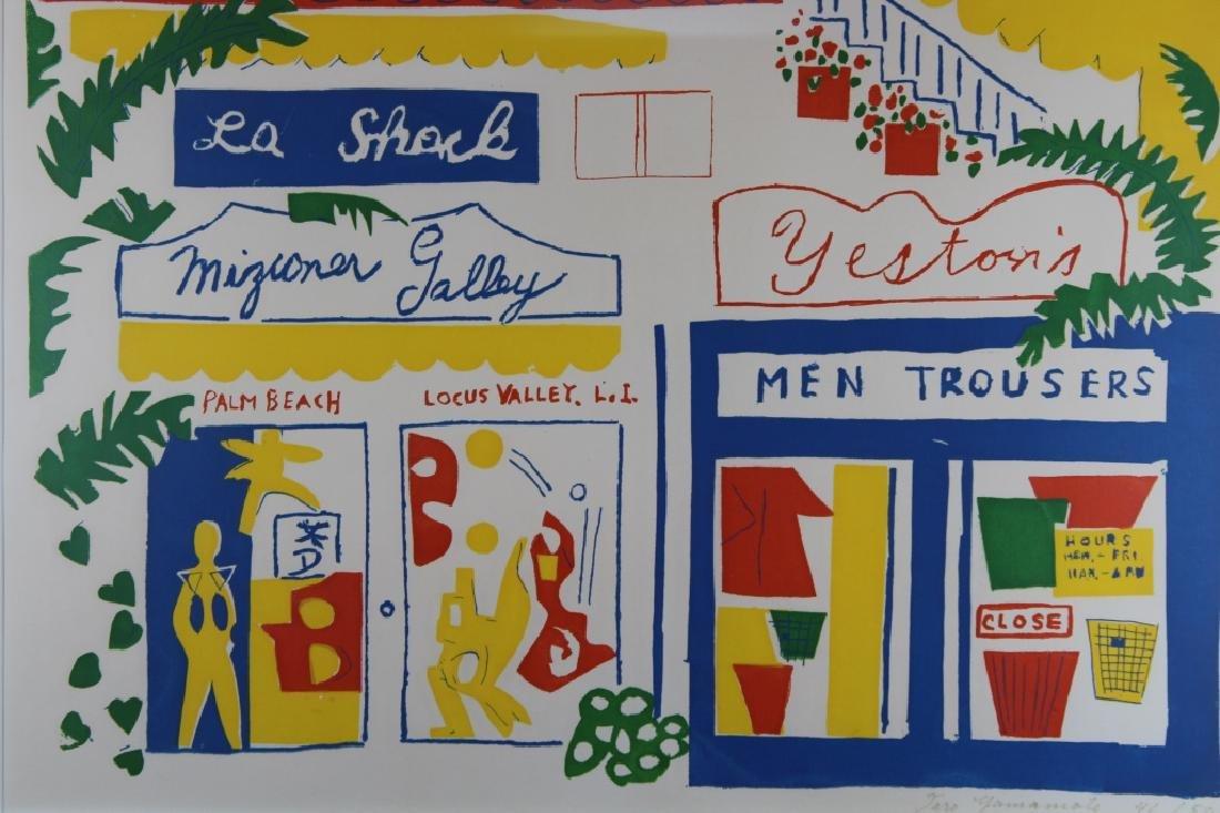 Taro Yamamoto (1919-1994) Lithograph, Palm Beach - 2