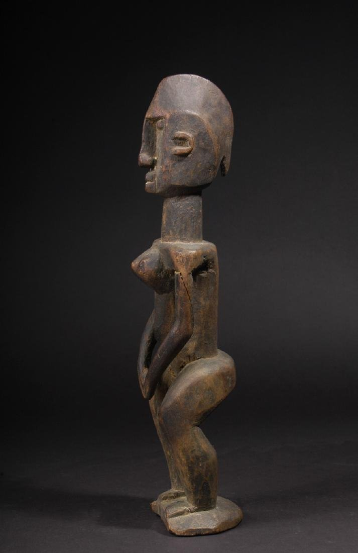 EARLY 20TH C. DOGON, WAKARA STYLE STANDING FEMALE - 3