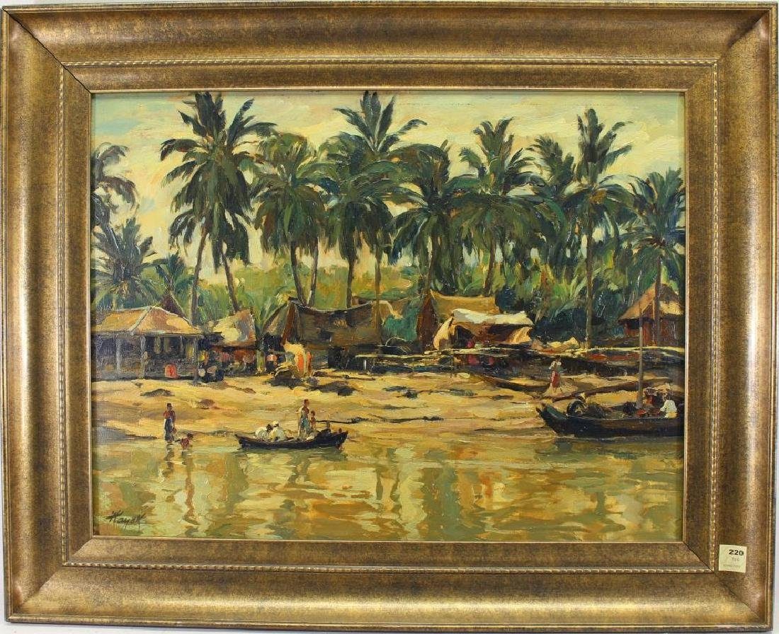 Hans Hayek (1869 - 1940) Indonesian River