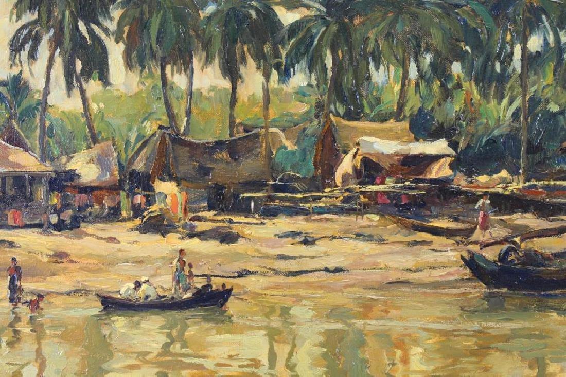 Hans Hayek (1869 - 1940) Indonesian River - 2