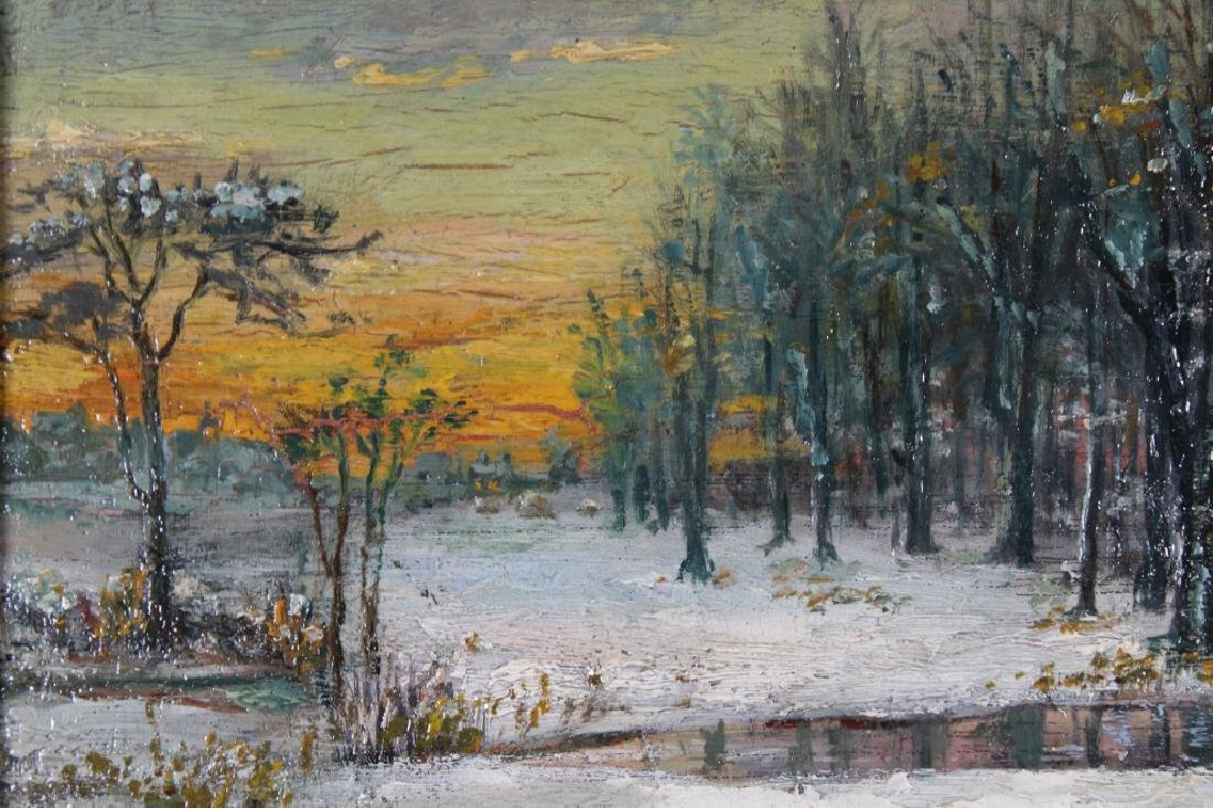 Manner of Carlson, Winter Landscape Painting - 2