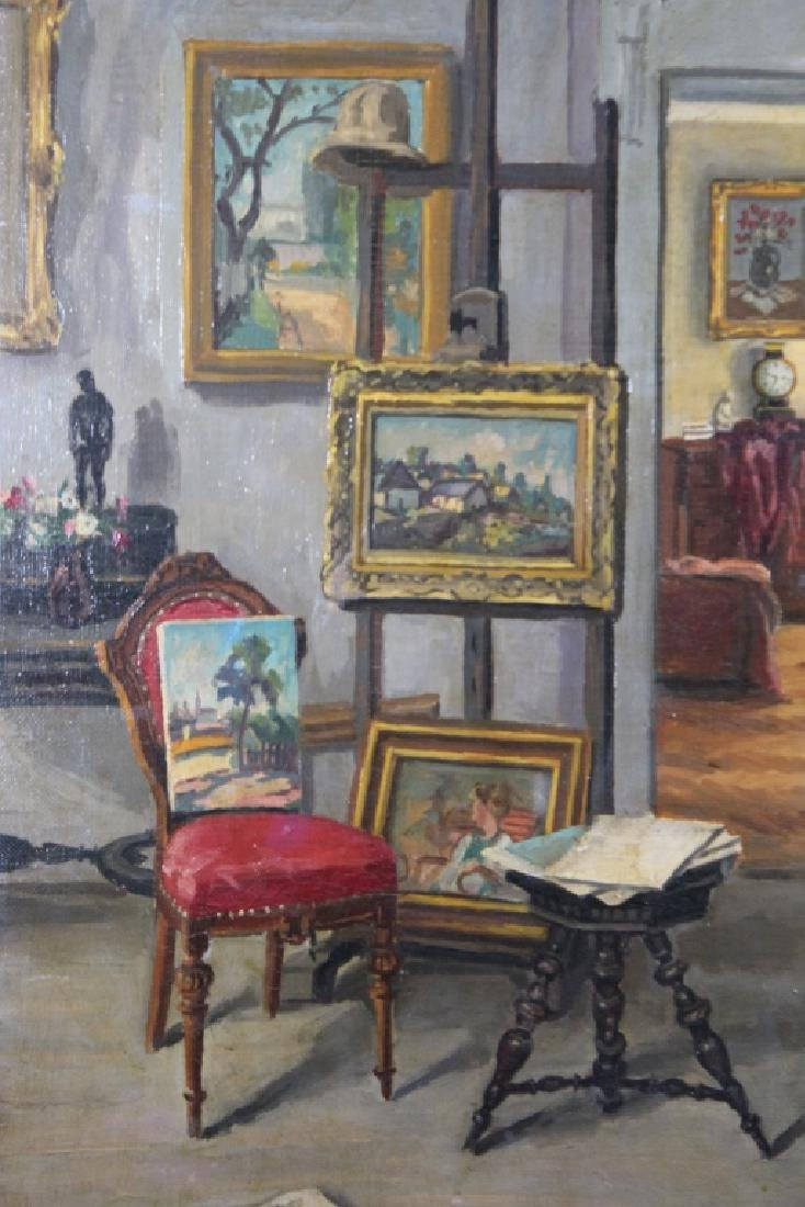 Signed, 1933 Painting of an Artist's Studio - 2