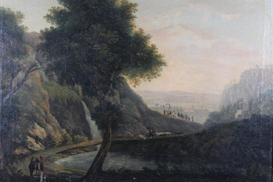 Fine 18th C. Old Master Landscape w/ Figures - 2