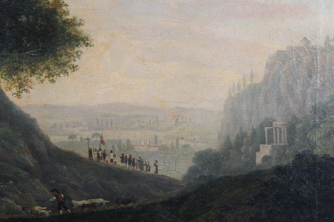 Fine 18th C. Old Master Landscape w/ Figures - 3
