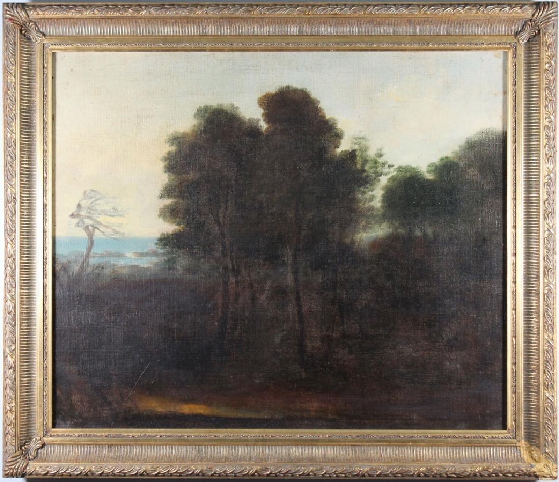 European School, 17th C. Wooded Landscape