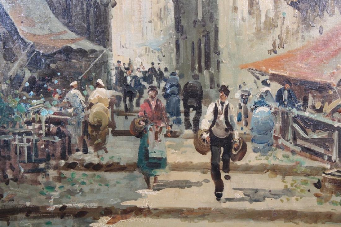 Large Impressionist Italian Street Scene - 2
