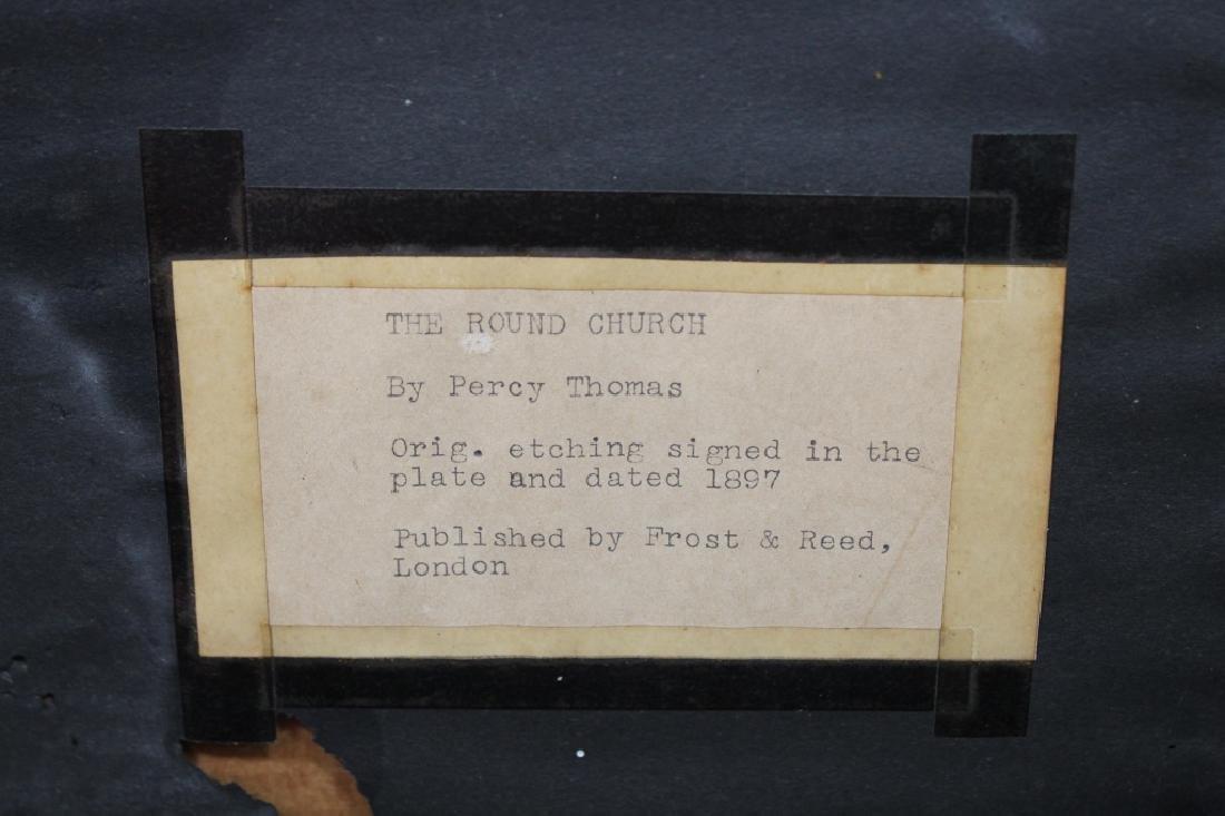 "Percy Thomas (1846 - 1922) ""The Round Church"" - 4"