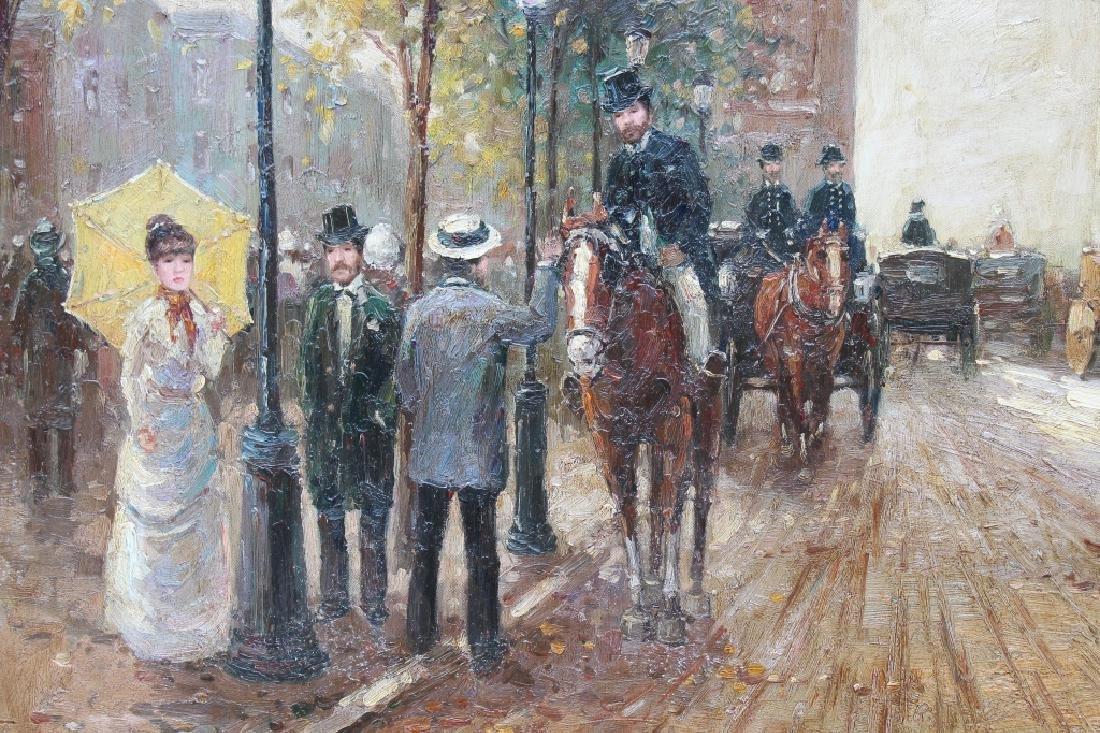 Large Impressionist Arc de Triomphe Ptg, Signed - 4