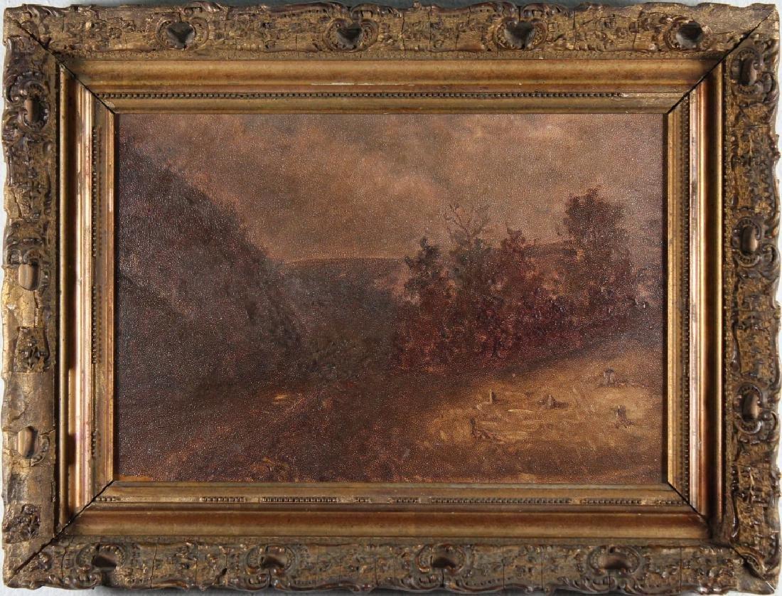 19th C. American School Tonalist Landscape