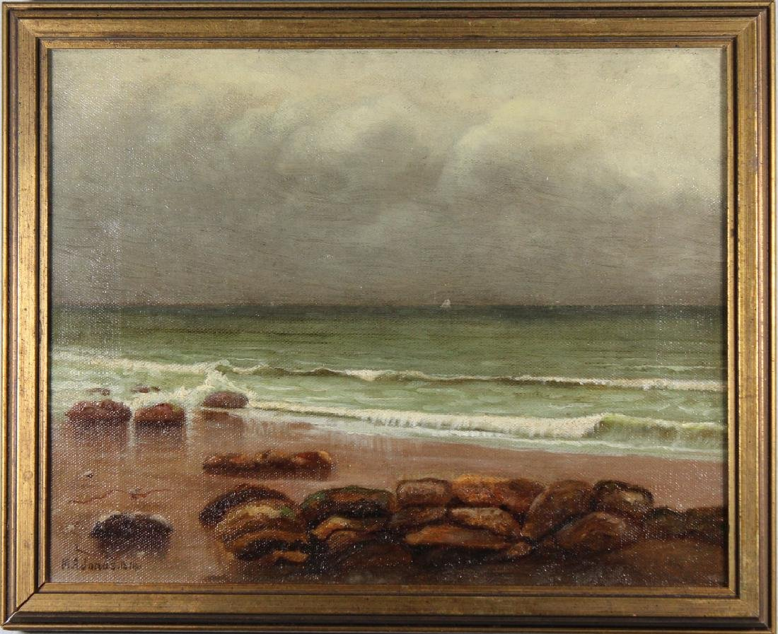Signed, 1814 American School Coastal Seascape