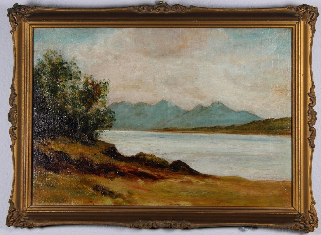 Hudson River School, 19th C. Painting of Mountain