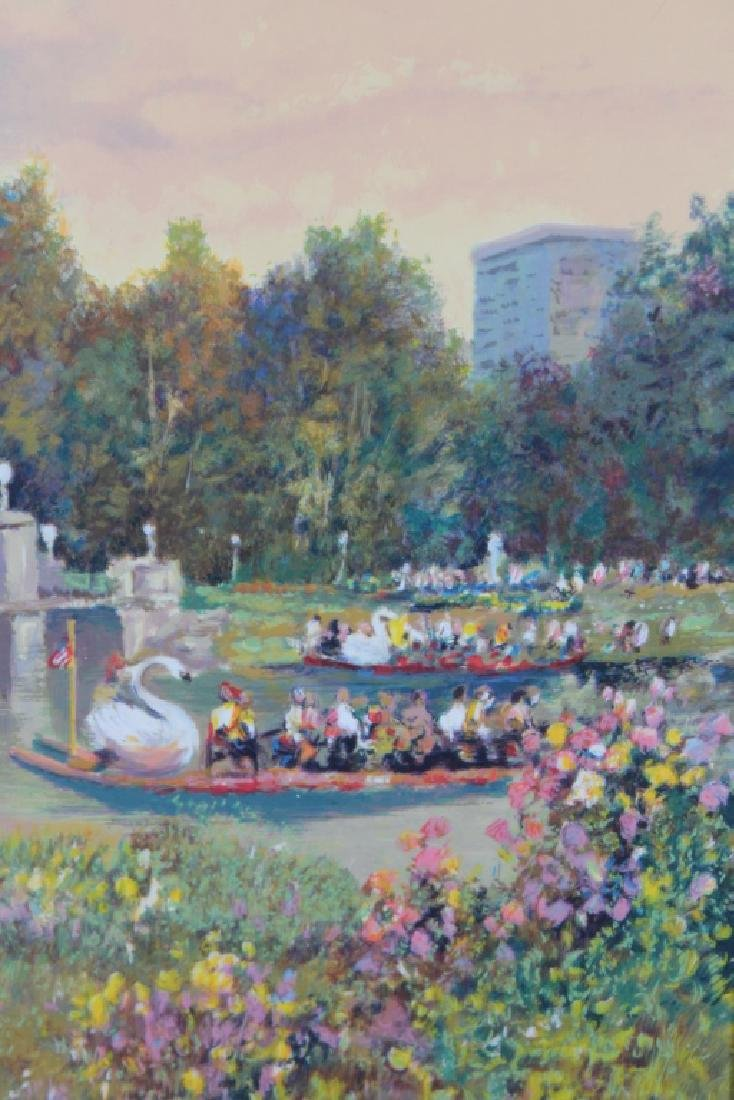 Boston Public Garden with Swan Boats, Figures - 2