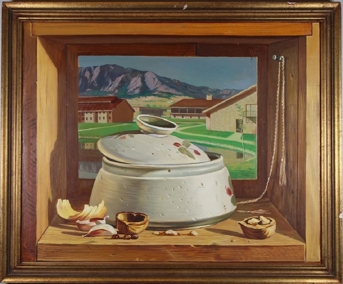 American School, Trompe-l'oeil Painting