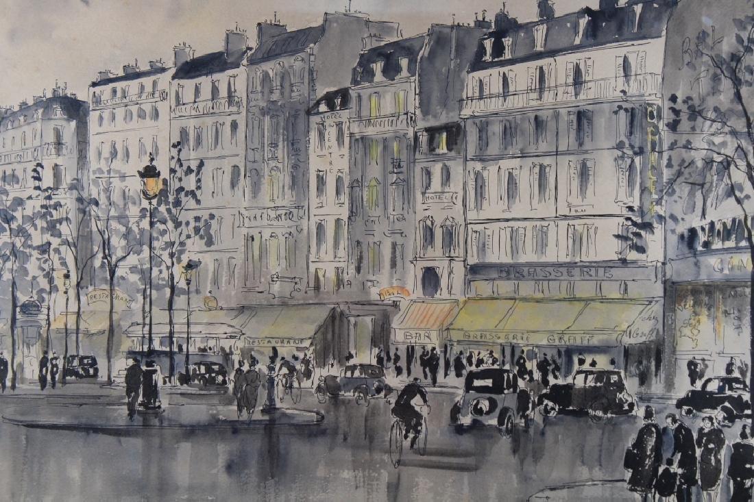 Guy Neyrac (1900 - 1950) Paris Street Scene - 2