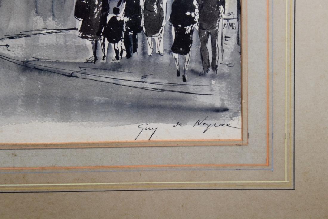 Guy Neyrac (1900 - 1950) Paris Street Scene - 4