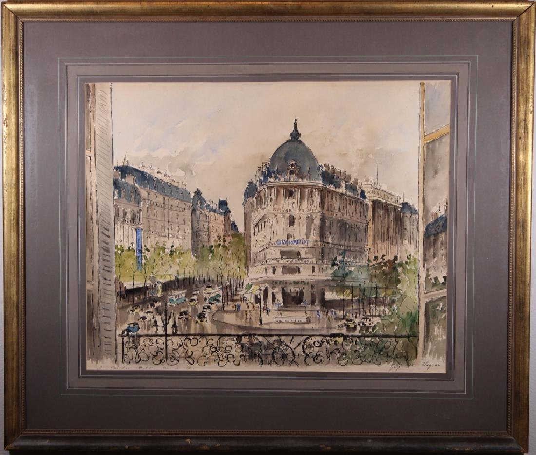 Guy Neyrac (1900 - 1950) Paris Street Scene