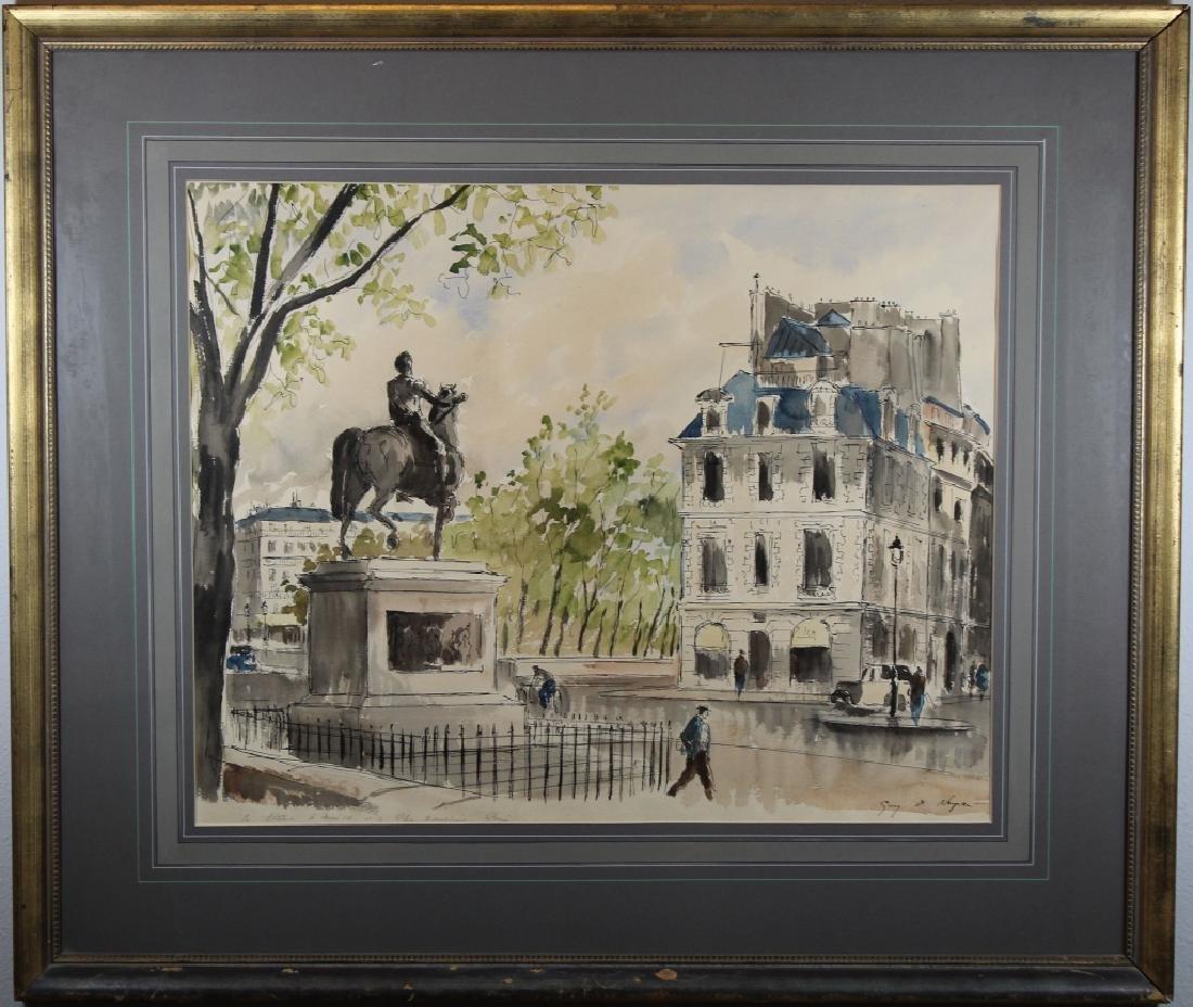 Guy Neyrac (1900 - 1950) Pont Neuf Paris