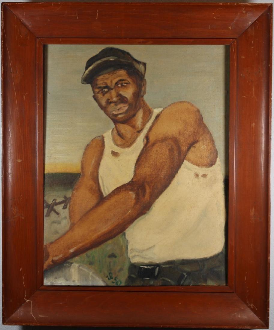 WPA Era, Painting of a Worker in a Field