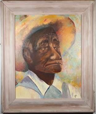 70 American School Portrait of a Man in a Hat