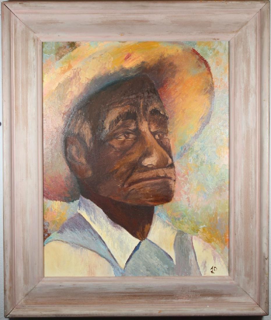 '70, American School Portrait of a Man in a Hat