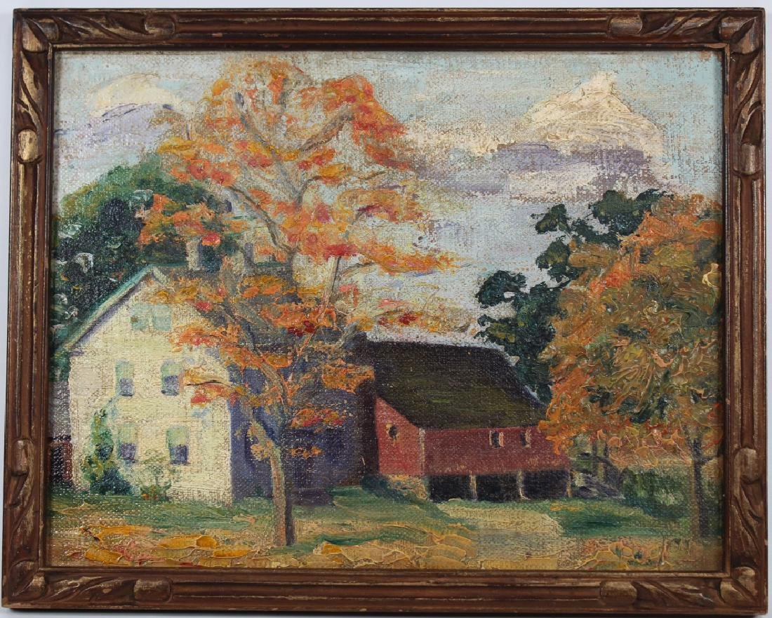 American School, Impressionist Autumnal Landscape