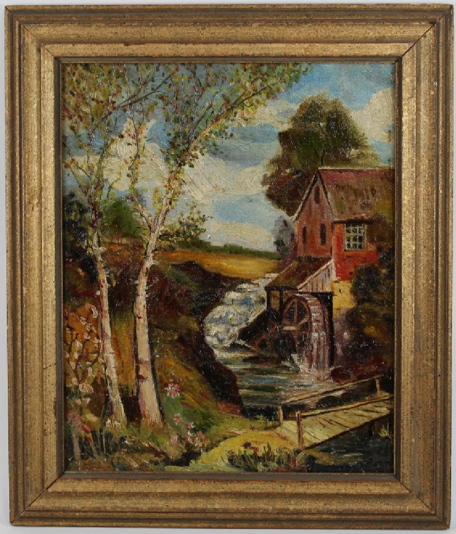 American School, Painting of a Mill Near a River